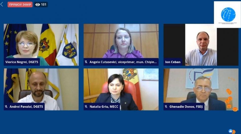 Primarul general, Ion Ceban, a participat la lansarea Forumului municipal al cadrelor didactice, în format online